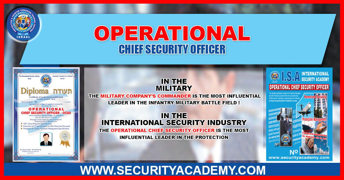 OPERATIONAL Chief Security Officer