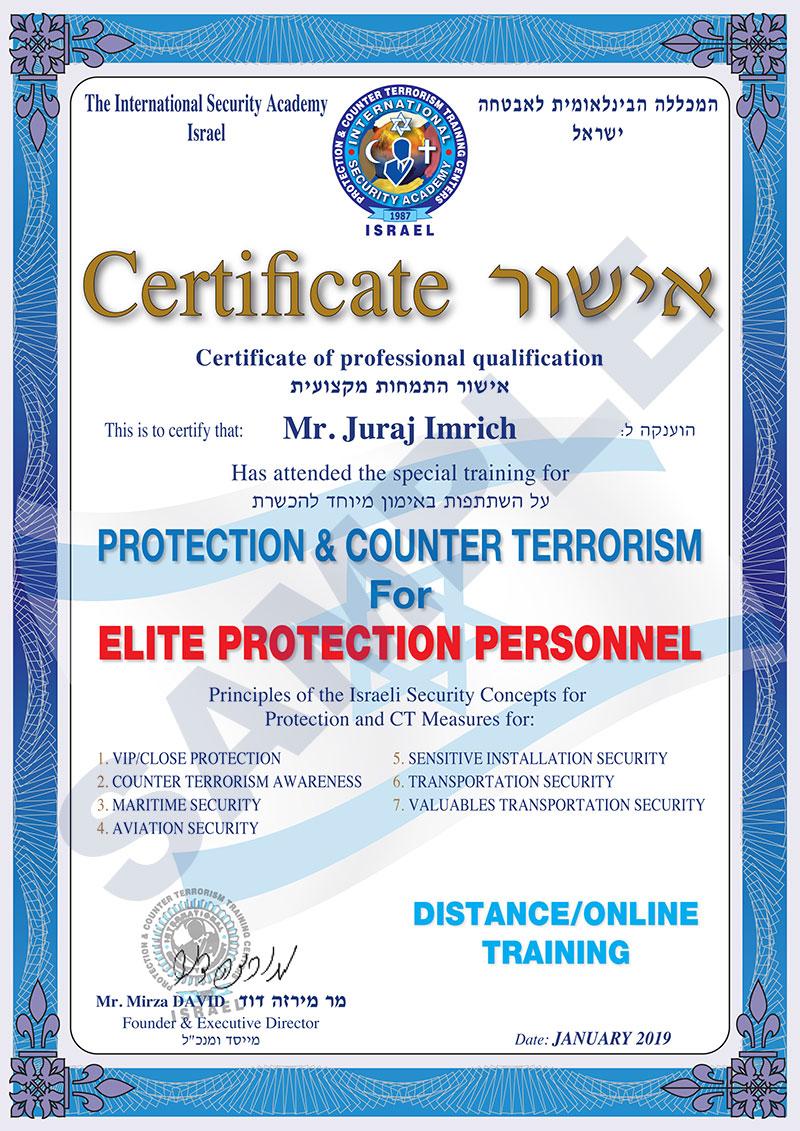 Distance Certificate